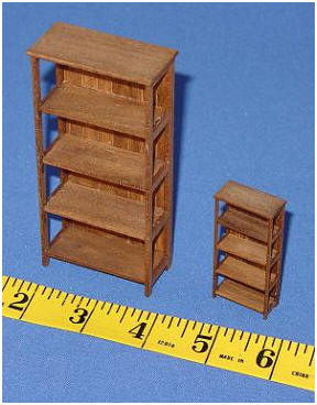 Contemporary shelves in two scales